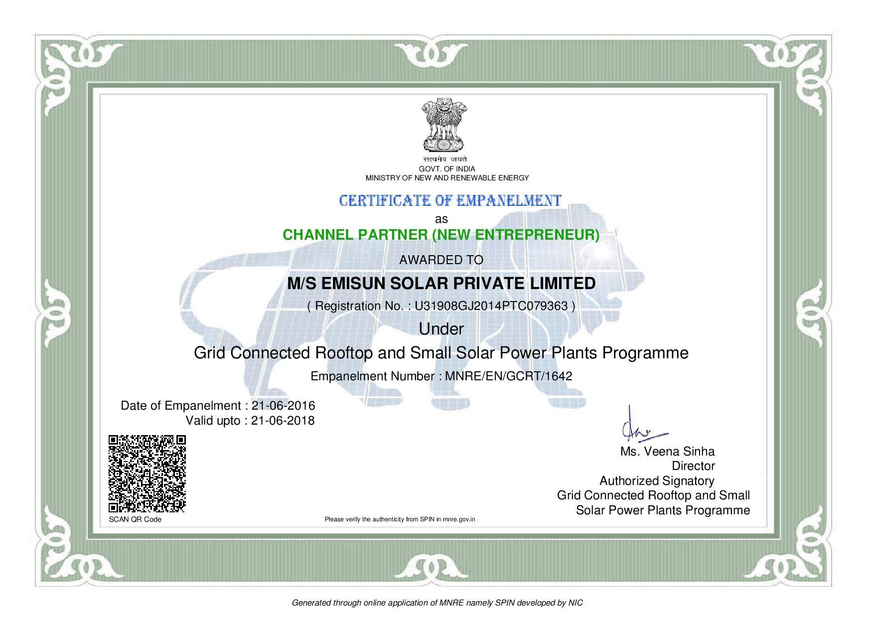 ISO 9001 2008 EMISUN